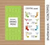 cocktail menu design. alcohol... | Shutterstock .eps vector #413670952