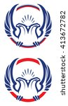 two headed eagle design element | Shutterstock .eps vector #413672782