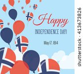 norway independence day... | Shutterstock .eps vector #413673826