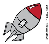rocket cartoon illustration... | Shutterstock .eps vector #413674855