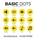 volume flat icons set with... | Shutterstock .eps vector #413676586