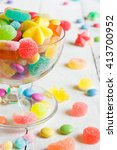 assorted colorful candies in... | Shutterstock . vector #413700952