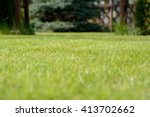 photo of lawn with blurred... | Shutterstock . vector #413702662