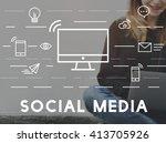 social media devices... | Shutterstock . vector #413705926