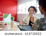 unposed group of creative... | Shutterstock . vector #413710522