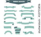 retro styled ribbons collection. | Shutterstock . vector #413721856