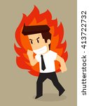 businessman angry  irritable... | Shutterstock .eps vector #413722732