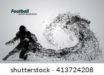 silhouette of a football player ... | Shutterstock .eps vector #413724208