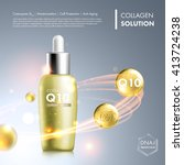 coenzyme q10 serum essence... | Shutterstock .eps vector #413724238