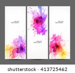 fantasy watercolor vector...   Shutterstock .eps vector #413725462