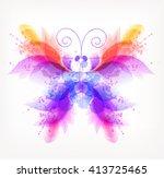fantasy watercolor vector... | Shutterstock .eps vector #413725465