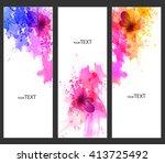 fantasy watercolor vector... | Shutterstock .eps vector #413725492