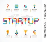 startup business design concept ... | Shutterstock .eps vector #413726332