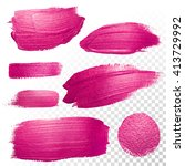 vector pink watercolor brush... | Shutterstock .eps vector #413729992