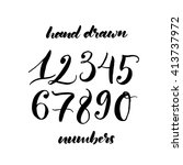 collection of hand drawn... | Shutterstock .eps vector #413737972