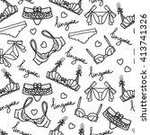 lingerie seamless pattern.... | Shutterstock .eps vector #413741326