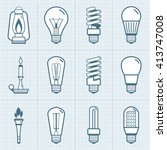 various light bulb icons set.... | Shutterstock .eps vector #413747008