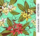 vector illustration tropical... | Shutterstock .eps vector #413748856