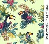 vector illustration tropical... | Shutterstock .eps vector #413748862