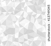 gray polygonal mosaic paper... | Shutterstock .eps vector #413749345
