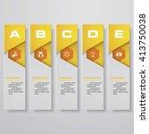 design clean number banners... | Shutterstock .eps vector #413750038