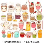 collection of lovely hot and...   Shutterstock .eps vector #413758636