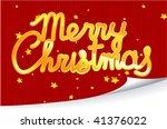 christmas greeting. vector. | Shutterstock .eps vector #41376022