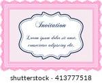 formal invitation template.... | Shutterstock .eps vector #413777518