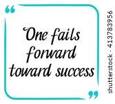success quote. handwritten... | Shutterstock .eps vector #413783956