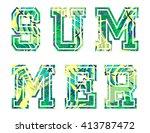 vector illustration of vintage... | Shutterstock .eps vector #413787472