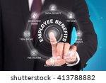 employee benefits technology... | Shutterstock . vector #413788882