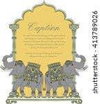 elephant in indian art style 2 | Shutterstock .eps vector #413789026