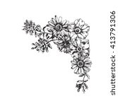 engraved hand drawn... | Shutterstock .eps vector #413791306