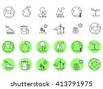 ecology icons vector set | Shutterstock .eps vector #413791975