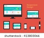responsive web design | Shutterstock .eps vector #413803066