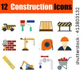 flat design construction icon... | Shutterstock .eps vector #413803132