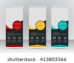 roll up banner stand template... | Shutterstock .eps vector #413803366