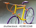 close up of handmade wire frame ... | Shutterstock . vector #413811268