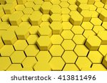 hexagon abstract background 3d... | Shutterstock . vector #413811496