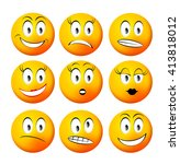 collection smiley | Shutterstock . vector #413818012