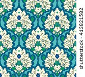 Seamless Vector Floral Damask...