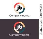 jb letters business logo icon... | Shutterstock .eps vector #413821696