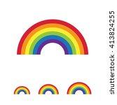 rainbow icon | Shutterstock .eps vector #413824255