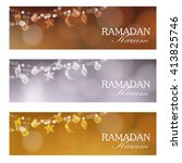 ramadan web banners. party... | Shutterstock .eps vector #413825746