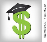 2016 graduate student loan... | Shutterstock .eps vector #413825752