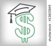 2016 graduate student loan... | Shutterstock .eps vector #413825845