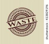 waste rubber grunge texture seal | Shutterstock .eps vector #413829196