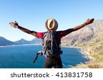 rear view portrait of young man ... | Shutterstock . vector #413831758