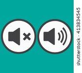 audio speaker volume icons | Shutterstock .eps vector #413834545