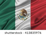 flag of mexico waving in the... | Shutterstock . vector #413835976
